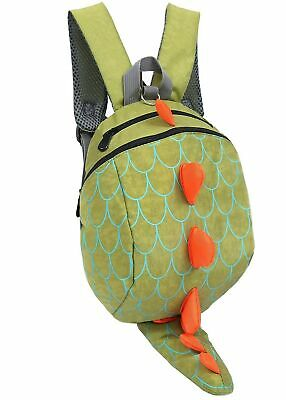 Zhuannian Toddler Kids Dinosaur Backpack with Leash Green