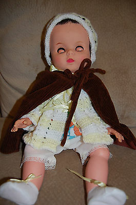 Large Vintage Plastic Baby Doll