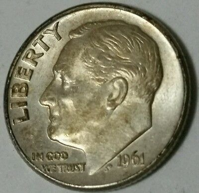 United States 1961-D  ten cent dime. High grade!