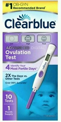 Clearblue Advanced Digital Ovulation Test, 10 count  Box issues Exp Date 04/18+