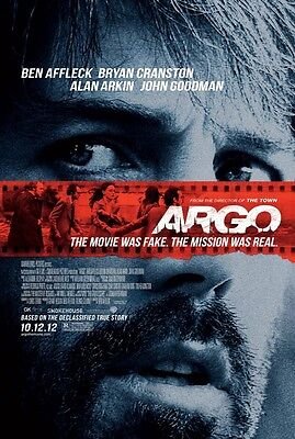 "ARGO 2012 OSCAR BEST PICTURE Original DS 2 Sided 27X40"" Movie Poster Ben Affleck"