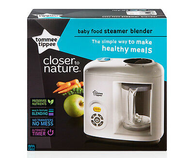 Tommee Tippee Closer To Nature Baby Food Steamer Blender - White