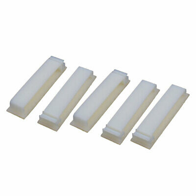 5 Pcs FC-50 Double Side Self Adhesive Cable Ties Wire Orgnizer Clip Off-White