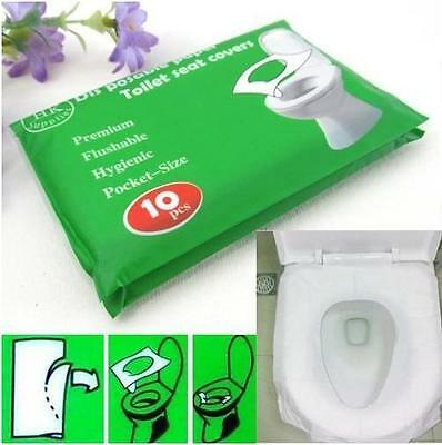 New 10Pcs/lot Disposable Waterproof Sterilized Toilet Seat Paper Covers/Mat WH