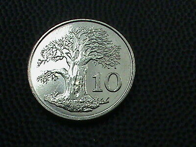 ZIMBABWE     10  Cents    1980    BRILLIANT  UNCIRCULATED