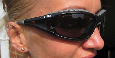 Bolle Jetski wrap around tinted glasses Goggles with case & neck strap