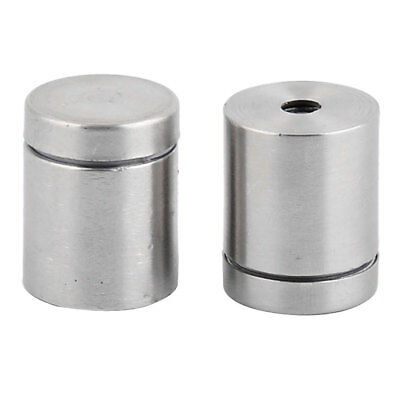 Stainless Steel Picture Frame Screw Glass Standoff Mount Bolt Silver Tone 2 PCS