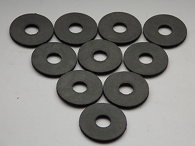 20 Rubber Washers 25mm od x M8 id x 2mm thick
