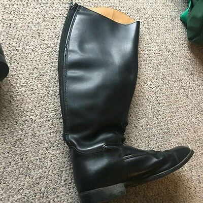 ladies long leather riding boots. wide leg, size 42
