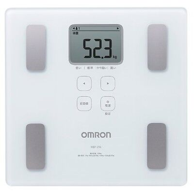 OMRON Digital composition Health body scan HBF-214-W white bathroom scale JAPAN