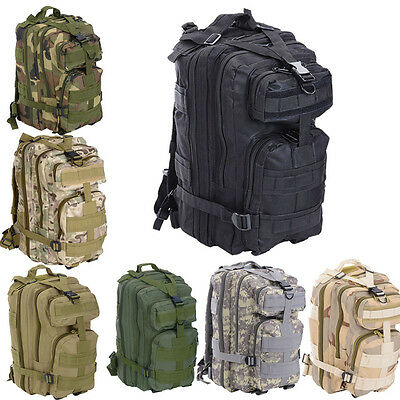 28L Military Tactical Army Rucksacks Molle Backpack Camping Hiking Trekking Bag