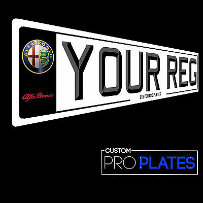 Pair Of Quality 3D Font Alfa Romeo Logo Number Plates, Show Plates
