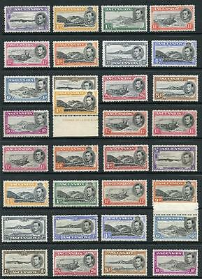 Ascension 1938-53 complete set 32 values SG38/47a MNH/MLH cat £629 (26 are MNH)