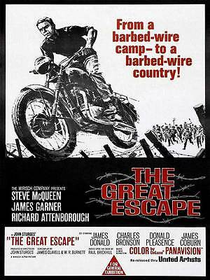"Framed Classic vinatge movie poster ""The Great Escape"" 30% off"