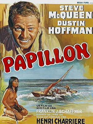 "Framed Classic vinatge movie poster ""Papillon"" 30% off"