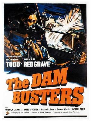 "Framed Classic vinatge movie poster ""Dam Busters"" 30% off"