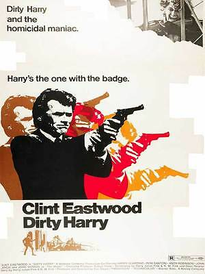 """Framed Classic vinatge movie poster """"Dirty Harry"""" 30% off"""