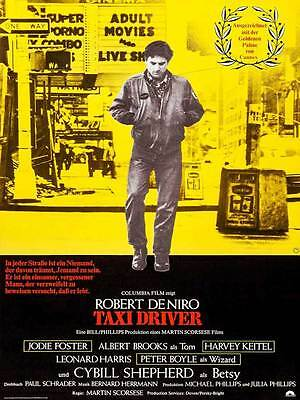 """Framed Classic vinatge movie poster """"Taxi Driver"""" 30% off"""