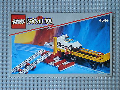 Lego 4544 - Train Car Transport Wagon with Car - Construction Guide Only.