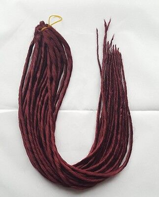 Elysee Star - #39 Burgundy Red Synthetic Dreadlocks (Double Ended) 100g