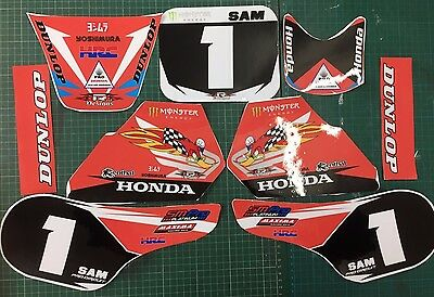 honda qr50 graphics full kit decals qr 50 stickers free name and number