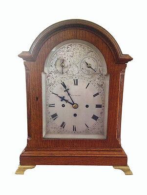 Victorian ELKINGTON Bracket Clock Fusee movement & Westminster Gong Chimes 1890