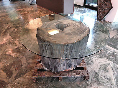 Large Petrified Wood table - 545kg - Indonesia