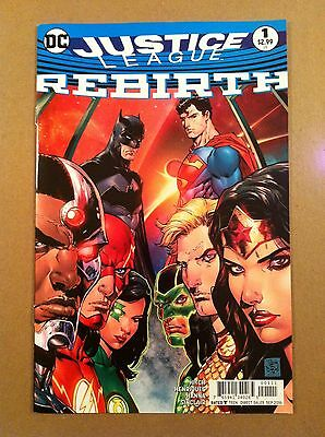 Justice League Rebirth #1 Tony Daniel Cover Bryan Hitch Vf/nm 1St Printing Dc