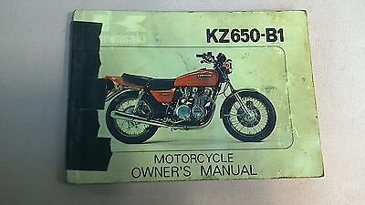 kawasaki kz650-b1 owner's manual 1976 includes wiring diagram