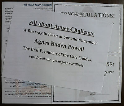 All About Agnes Baden Powell Challenge - Rainbows, Brownies, Guides - Trefoil