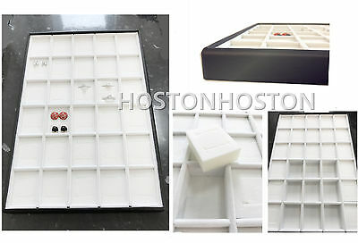 30 Compartment  Large Jewellery Tray Earrings Rings Shop Display Show Case Boxes