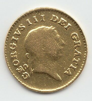 1808 George III Gold Third Guinea - Ex Mount