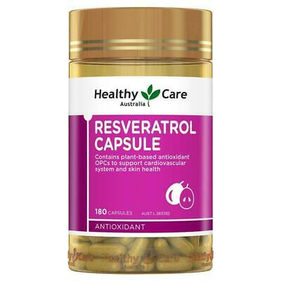 Healthy Care Resveratrol 180 Capsules