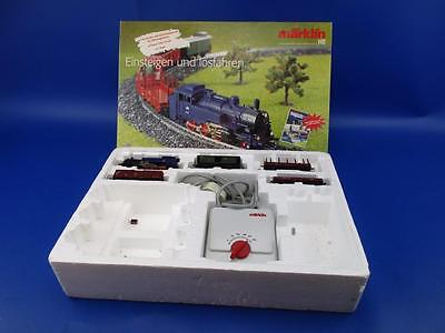 Marklin 29175 Ho Class 74 Tank Locomotive With Trailing Wagons And Layout Track