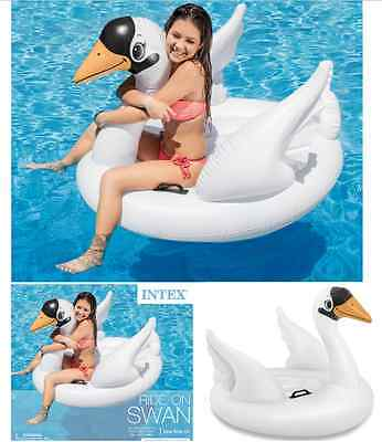 Inflatable White Swan Float Raft Summer Party Pool Lake Water Fun Toy Lounge NEW