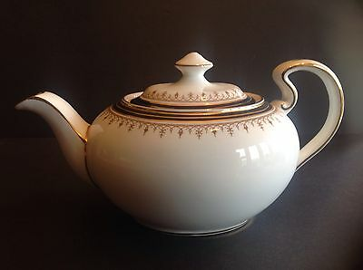 Aynsley Leighton Teapot  Gold & Cobalt Bands Brown Design made in  England