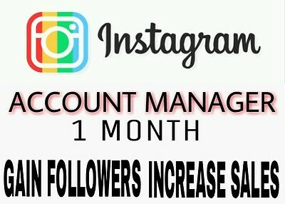 Instagram Account Managment- 1 Month With A 3 Day Guarantee