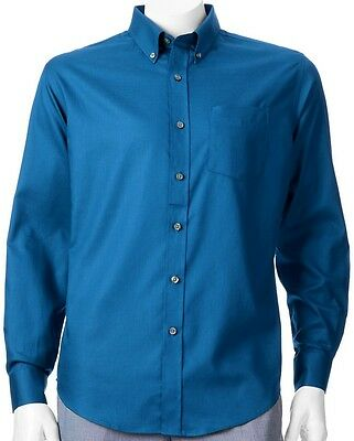 b72ea7370db NWT Croft   Barrow Solid Button-Down Sapphire Blue Shirt Men s Big ...