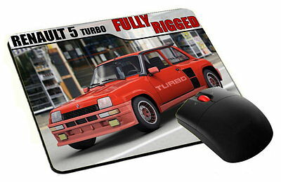 mouse pad, tappetino mouse RENAULT 5 TURBO maxy car pc computer desktop