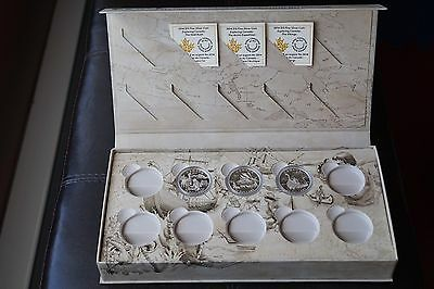 3 Exploring Canada Silver Coins: Vikings, Arctic Expedition, Gold Rush + Case