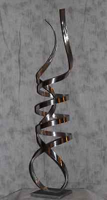 Modern Abstract Stainless Steel Metal Sculpture In/Outdoor by Andre
