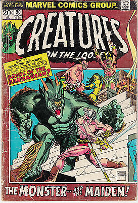 Creatures on the Loose #20 (Nov 1972, Marvel)