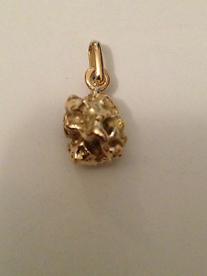pepite d'or pendentif or 18 carats 750 °/°°