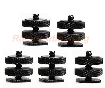 "1/4""- 20 Tripod Screw to Universal Shoe Adapter for Monitor Bracket x 5pcs"