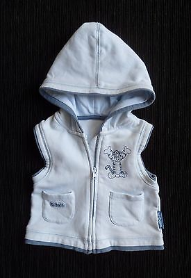 Baby clothes BOY newborn 0-1m Disney Tigger blue thin sleeveless hood jacket zip