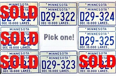PICK ONE NOS 1978 Minnesota DEALER License Plate PAIR Many To Choose