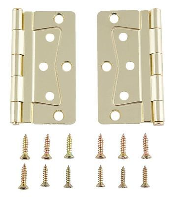 Mobile Home/RV Interior Butterfly Brass Hinge Set with Screws