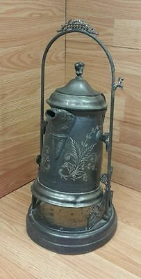 Vintage New Amsterdam Quadruple Plate Silver Co. Watering Can With Stand (#0629)