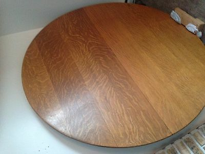 80+ yrs old, 60 inch solid oak, pedestal table, 7 oak cane chairs