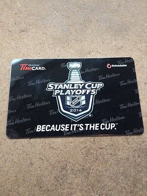 Stanley Cup Playoffs Reloadable Tim Hortons Gift Card NHL Choose 2014 Or 2015